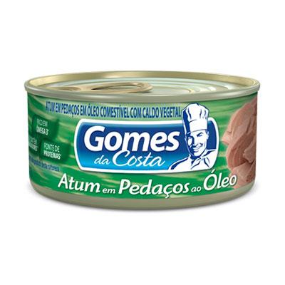 Gomes atum pedacos oleo