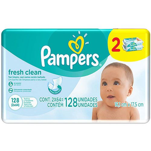 Pampers fresh clean 128