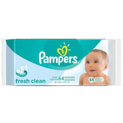 Pampers fresh clean 64