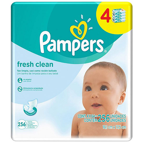 Pampers fresh clean 256