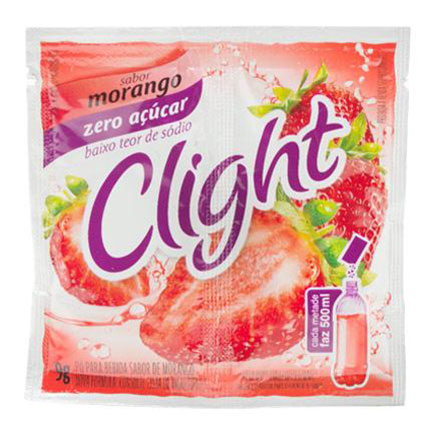 Refresco em po clight  zero morango 9g