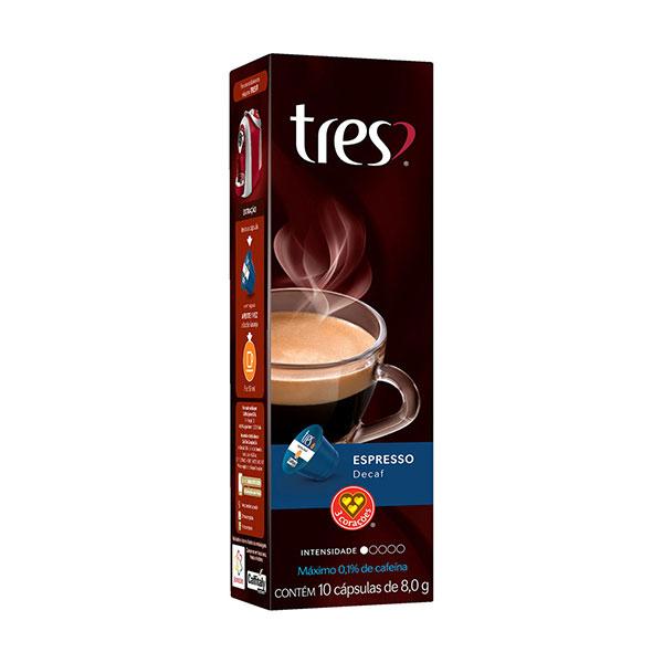 Capsulas espresso descafeinado 8g