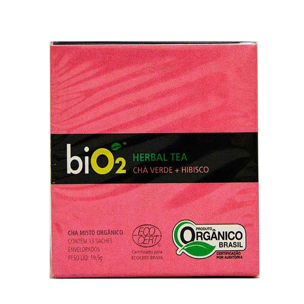 Cha bio2 verde hibisco