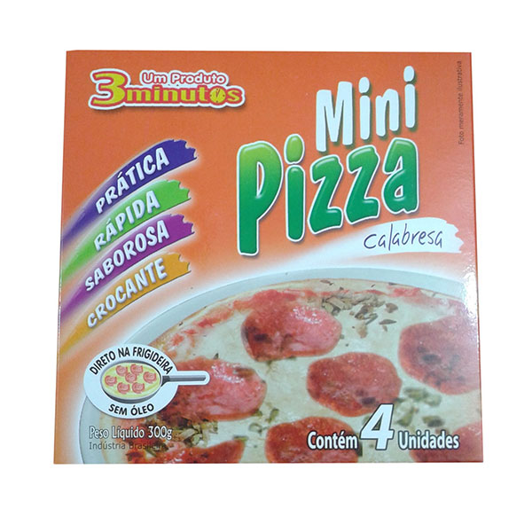 Pizza mini 3minutos calabresa 300g