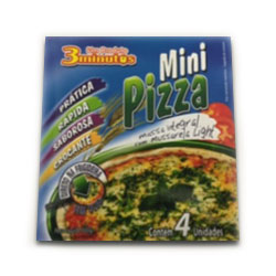 Pizza mini 3minutos mussarela light 300g