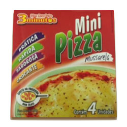 Pizza mini 3minutos mussarela 300g