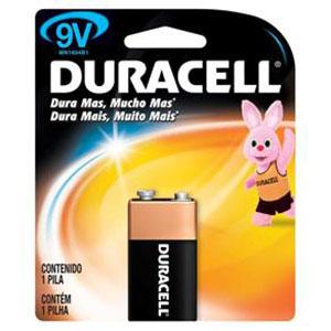 Pilha duracel bateria 9v