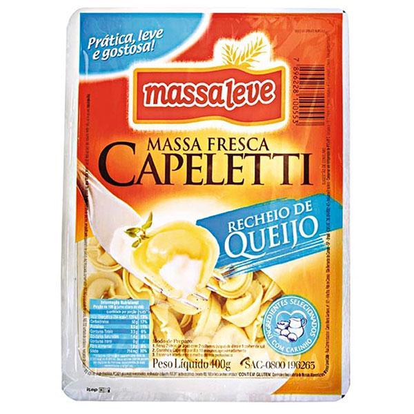 Capeletti massa leve queijo