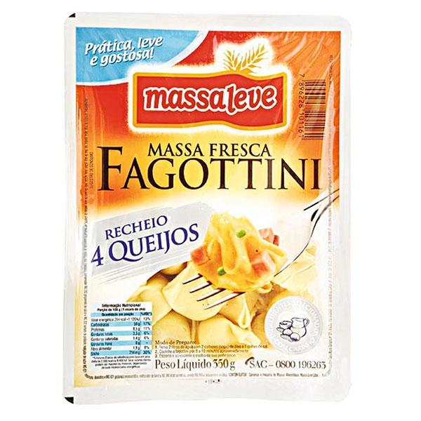 Fagottini quatro queijo massa leve 400g