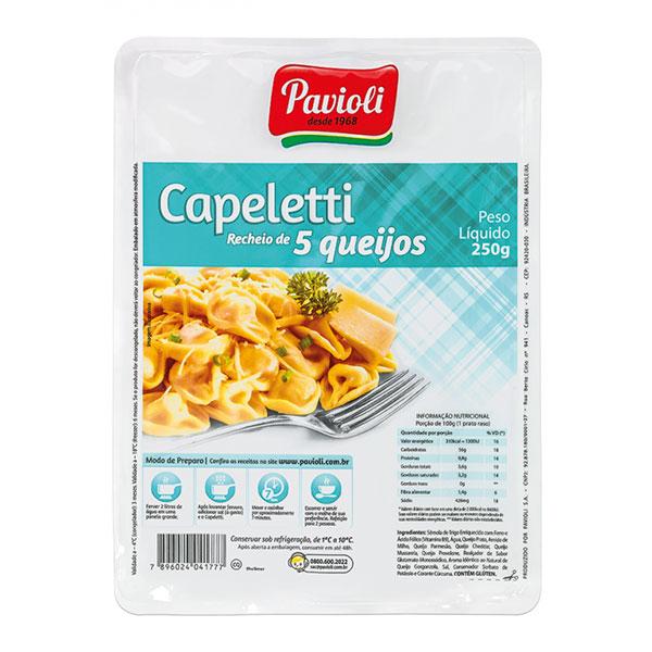 Capeletti pavioli 5 queijos