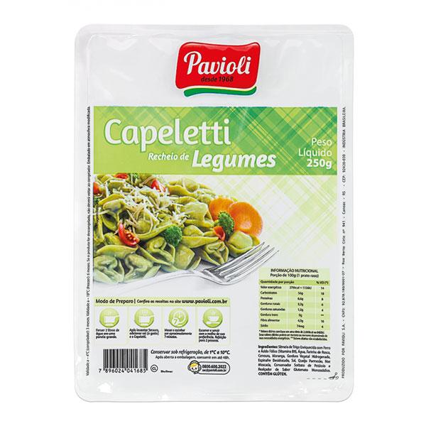 Capeletti pavioli legumes