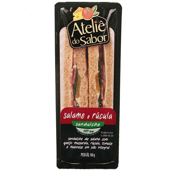 San nat atelie do sabor salame rucula