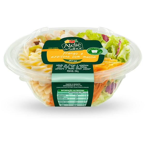 Salada atelie sabor frango com azeitonas 250g