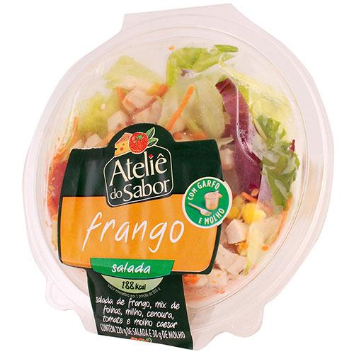 Salada atelie do sabor frango mol caesar