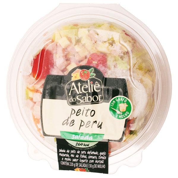 Salada telie do sabor peito peru com iogurte