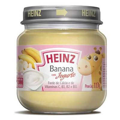 Papinha heiz banana iogurte 113g