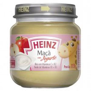 Papinha heiz maca iogurte