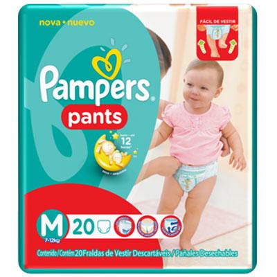Fralda pampers pants media c20
