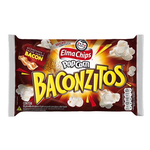 Pipoca micro elma chips baconzitos
