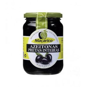 Azeitona macarino preta inteira 529g