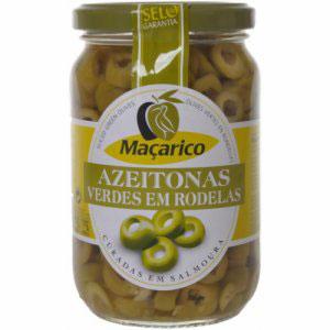 Azeitona macarico verde rodelas