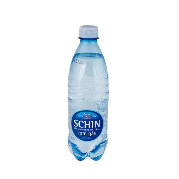 Agua min schin com gas 500ml