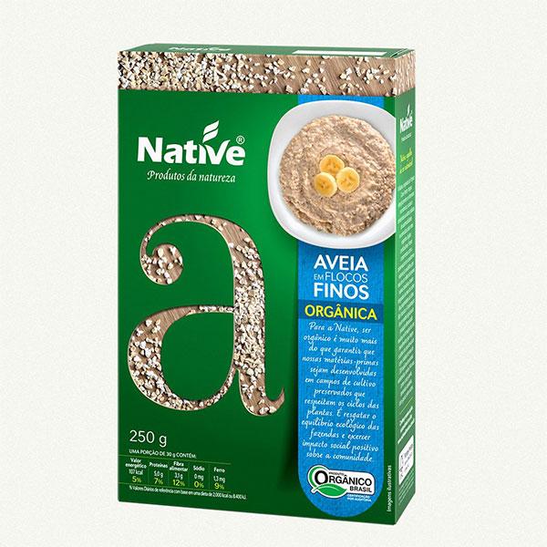 Aveia native org flocos finos 250g