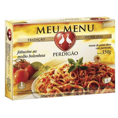 Meu menu fettucine bolonhesa perdigao 350g