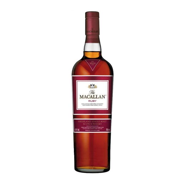 Whisky macallan single malt ruby