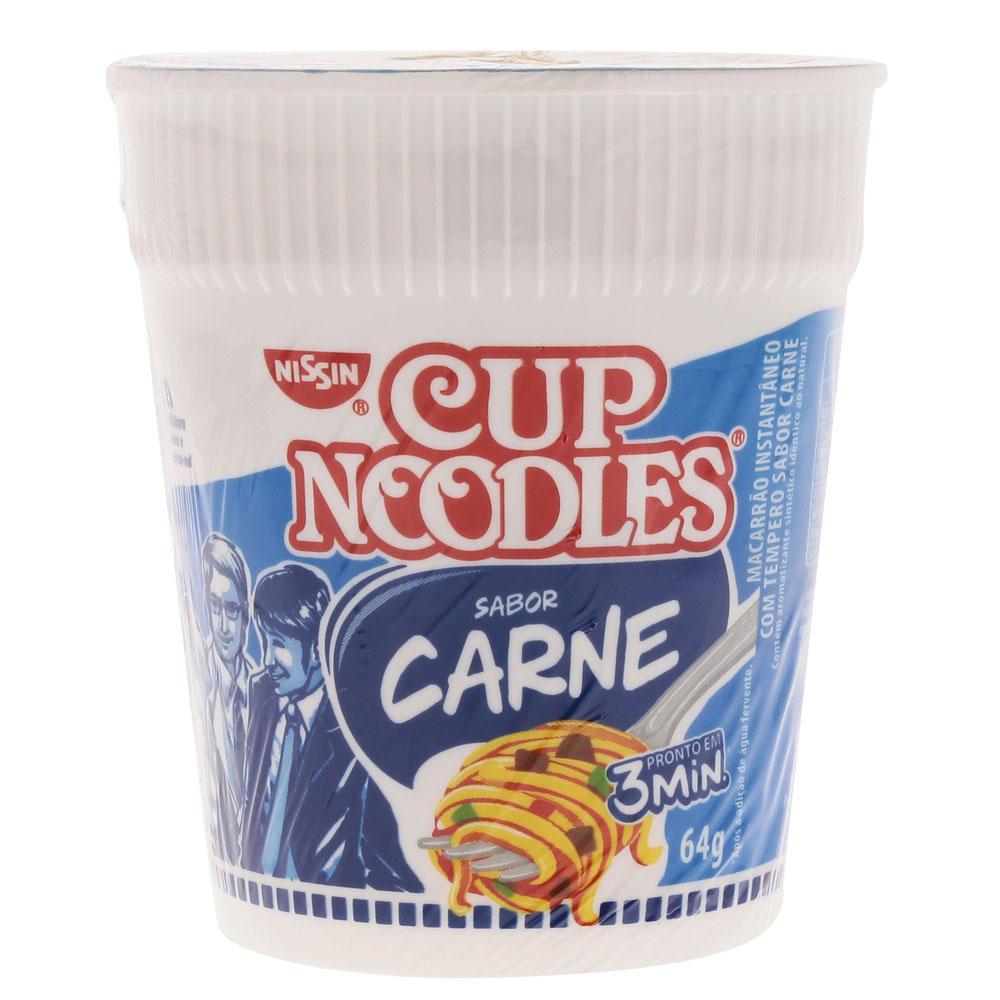 Nissin cup noodles carne bov 64g