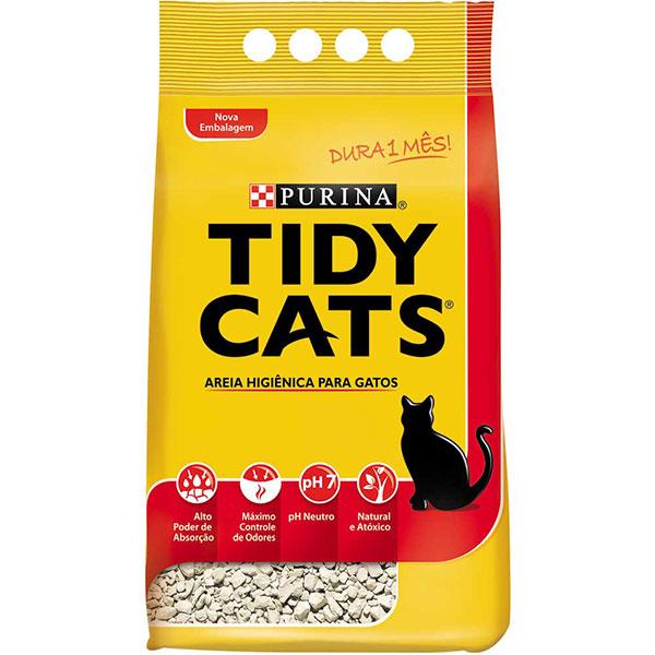 Areia gato tidy purina 4kg