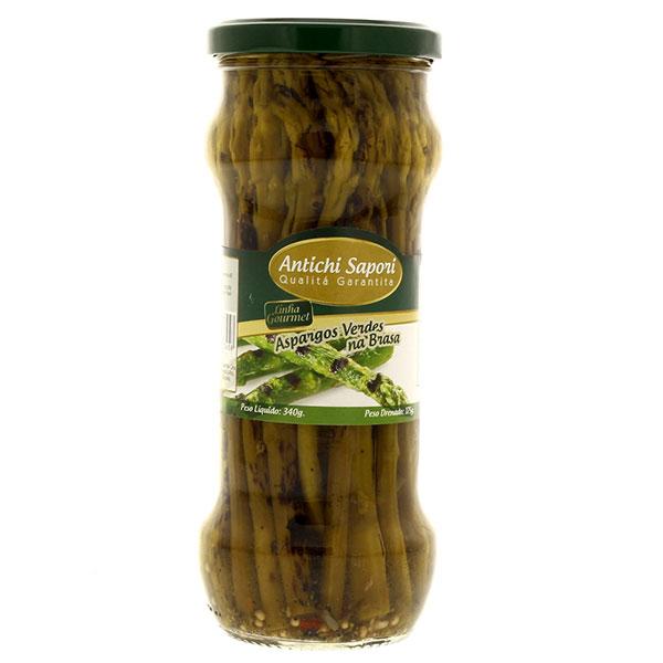 Aspargos antichi sapori verde grelhado
