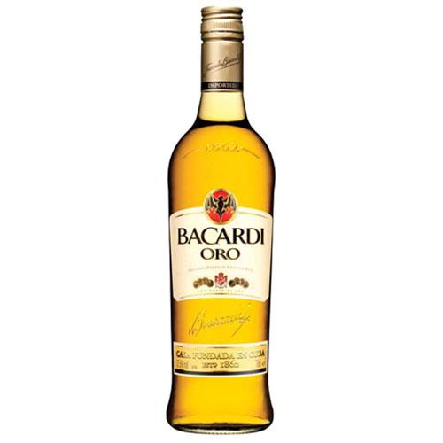 Rum nac bacardi carta ouro